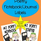 Poetry Journal/Notebook Labels