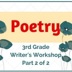 Poetry Month (Part 2 of 2) Lower Elementary Writer's Workshop