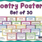Poetry Posters ~ Set of 30