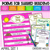 Poetry Station and Shared Reading for April-CC aligned