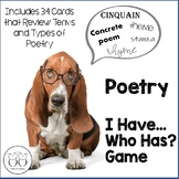 Poetry Toolbox: I Have...Who Has? Game