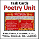 Poetry Writing Unit: Haiku, Tanka, Cinquain, Free Verse, Biopoem