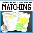 Point Slope and Slope Intercept Graphing Matching Activity