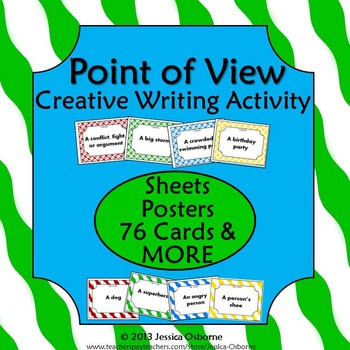 Point of View Creative Writing Activity: Versatile Cards, Sheets, Poster & More