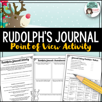 Point of View Writing Activity Using Rudolph the Red-Nosed Reindeer