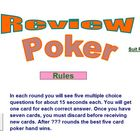 Poker Review Activity - School License  A Pinkley Product