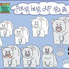 Polar Bear Characteristics Clip Art Set