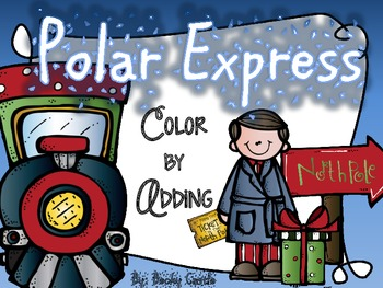 Polar Express Color-by-Adding with Snowflake manipulative pieces