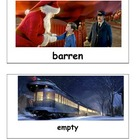 Polar Express Christmas Vocabulary Cards Match Game