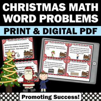 Polar Express Math Word Problems Printable Addition & Subtraction Games Grade 1