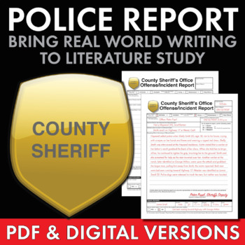 Police Report on a Pivotal Scene, a Fun Writing Activity Use with ANY Literature