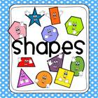 Polka Dot 2D and 3D Shapes Poster Set