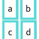 Polka Dot Alphabet Flashcards