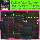Polka Dot Border Chalkboard Frames: For Personal & Commercial Use