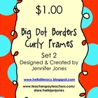 Polka Dot Border Curly Frames - Set 2