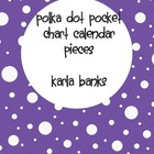 Polka Dot Calendar Pieces