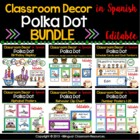 Polka Dot Calendar Set and Classroom Decorations {Spanish