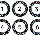 Polka Dot Circle Number Labels