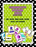 Polka Dot Classroom Poster Pack- Colors, numbers, shapes,