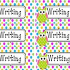Polka Dot Fluency and Writing Folder Labels