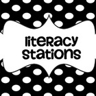 Polka Dot Literacy Station Signs