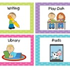 Polka Dot Literacy Station/Center Cards
