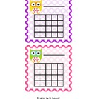Polka Dot Owl Sticker Chart 2