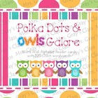 Owl & Polka Dot Themed Word Wall Set