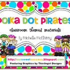 Polka Dot Pirates {Classroom Themed Materials}