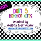 "Polka Dot Rotation Cards ""FREE"""
