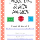 Polka Dot Shapes Posters