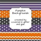 Polka Dot, Stripe, and Chevron Backgrounds- Pumpkin