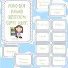 Polka Dot Themed Classroom Supply Labels - 9 pages