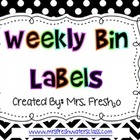 Polka Dot Weekly Drawer Labels (Free)