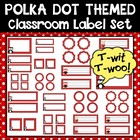 Polka Dot and Owls Classroom Label Set