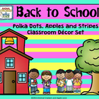 Polka Dots and Stripes Mega Classroom Organization KIt