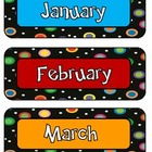 Polka Dots on Black Month Headings