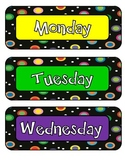Dots on Black Themed Days of the Week