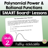 Polynomial, Power, and Rational Functions Unit: SmartBoard