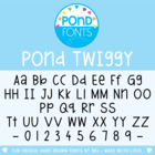 Pond Twiggy - Commercial and Personal Use Font