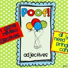 Poof!  A Review Game for Adjectives!