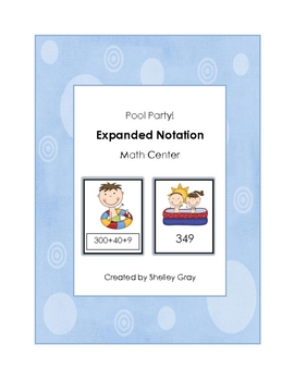 "Pool Party ""Expanded Notation"" Math Center"