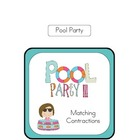 Pool Party File Folder Game - Identifying Contractions