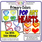 Pop Art Hearts - Primary Colors Art Lesson