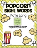 Popcorn Sight Word Activities-Journeys K list