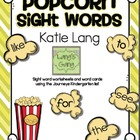 Popcorn Sight Word Activities