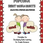 Popcorn Sight Word Hunts