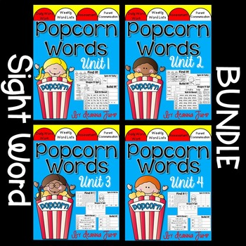 Popcorn Words Complete Set Bundle