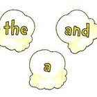Popcorn Words,  Number Words, Color Words on Popcorn Clipart