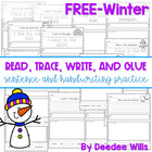 Winter:   Read, Trace, Glue, and Draw FREEBIE
